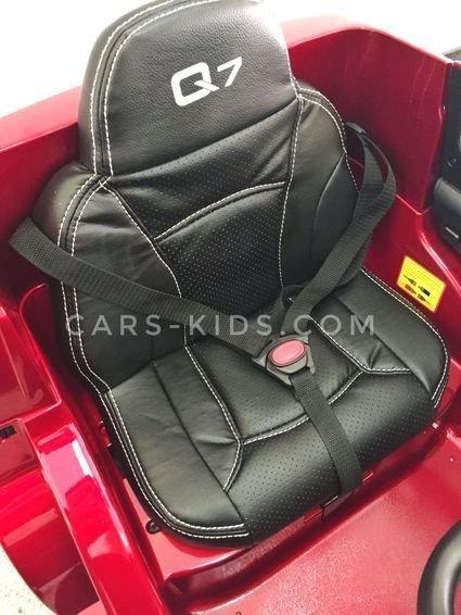 Электромобиль Audi Q7 Quattro Lux (колеса резина, кресло кожа, пульт, музыка)