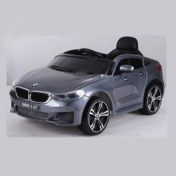 Электромобиль BMW 6 GT JJ2164 серый (колеса резина, кресло кожа, пульт, музыка)